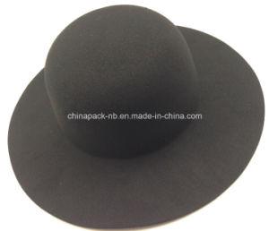 O preto clássico da Senhora Lã Artificial Chapéus (CPA_23011)
