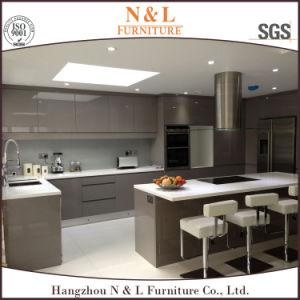 N&L verniz brilhante mobiliário moderno em madeira MDF armário de cozinha de alto brilho