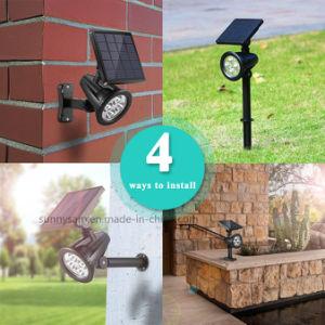 LED RVB étanche blanc Projecteurs lampe solaire de jardin Gazon Mur lumière de la sécurité avec la commande à distance