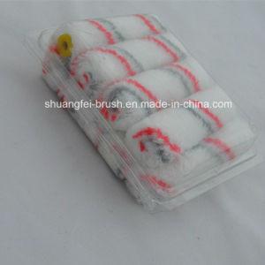 MiniAcrylic Paint Roller (roter u. grauer Streifen weiße Unterseite)