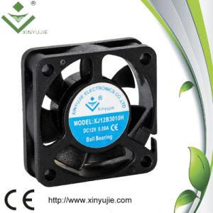 Refrigerador de alta velocidade de alta temperatura do refrigerador de ar do ventilador do radiador do instrumento 24V da C.C. micro com ventilador do motor da C.C. do Ce e do RoHS 30*30*10mm