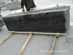 平板のためのNero磨かれたサンティアゴの灰色の花こう岩