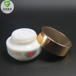 De witte Kruik van de Room van de Container van de Schoonheidsmiddelen van het Porselein Mini 20-50g