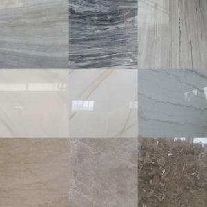 Noir/Blanc/gris/beige et marron/marbre granit poli/perfectionné de grandes dalles//les escaliers et les comptoirs de carreaux de mosaïque/