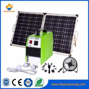 beweglicher SolarStromnetz-Generator des Haushalts-300W mit LED-Licht