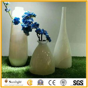 Natürlicher Onyx-Blumen-Vase, preiswerter Stein, der Geschenke schnitzt