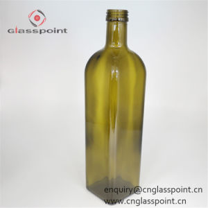 Grande bottiglia verde chiaro all'ingrosso dell'olio di oliva 1000ml