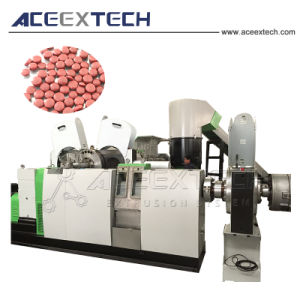 Plastic HDPE Film die en Machine recycleren pelletiseren