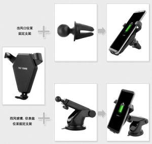 組み込みのファンチー携帯電話のホールダーの立場を持つ速い無線車の充電器USB旅行充電器