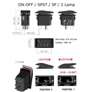 Resistente al agua Alquiler de Barco Interruptor basculante para Carling Arb LED apagado el interruptor basculante