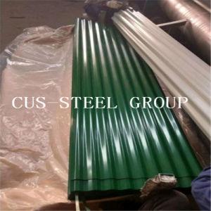 Il colore verde Ral6029 ha preverniciato il tetto galvanizzato/colore del metallo ondulati coprendo lo strato
