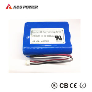 18650 Certificado UL2054 Batería 11.1V 4000mAh