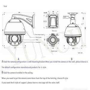 Piscina inteligente IR Cámara domo de alta velocidad para mini cámara CMOS