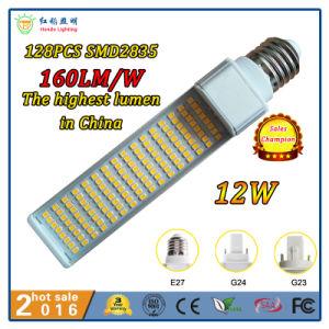 Botão giratório de 270 GRAUS E27, G23, G24, GX23 e GX24, E14, B22 12W PL lâmpada LED