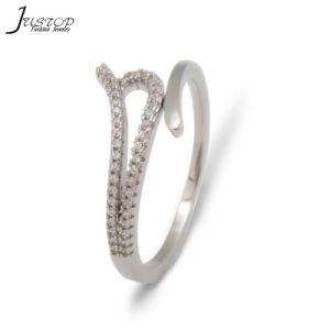 Venda por grosso Jóias de anel de dedo com diamante sintético