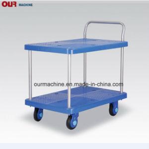 Plastikhand-LKW der China-Fabrik auf Lagerer doppelten Schicht-150-300kg, Handlaufkatze