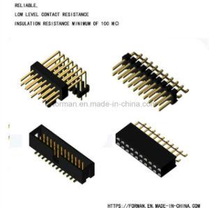 Контактный коннектор одна строка двойных рядов типа DIP и SMT тип разъема серии с одним и двумя корпусами