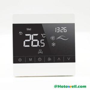 100~250VAC/24VACデジタルのタッチ画面Thermostat ファンコイルシステムのため