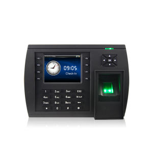 3,5-дюймовый цветной TFT мультимедийные считыватель отпечатков пальцев время посещаемости с TCP/IP-RS232/485 USB