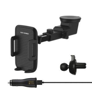 Быстрая беспроводная держатель телефона автомобильное зарядное устройство беспроводной связи стандарта Qi зарядного устройства с беспроводной приемник для зарядки iPhone/Samsung/Oppo