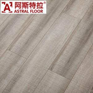 Surface de la soie Laminate Flooring (V-rainure)