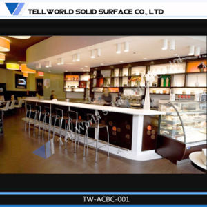 Tw Moderne De Lacrylique Surface Solide Café Bar Comptoirs