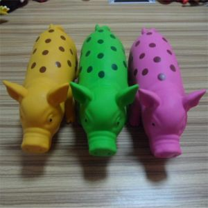 Welpen-Kauen-Latex-Schwein-Formsqueaker-Haustier-Spielzeug (HN-PT350)