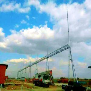 500kvドアのShappedの鋼鉄管の送電のサブステーションの構造