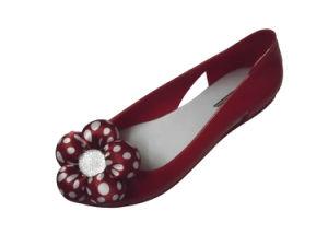 女性のための水晶プラスチックゼリーの靴- 3