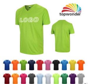 Personalizzare le magliette del collo di alta qualità V in vari colori, formati, materiali e disegni