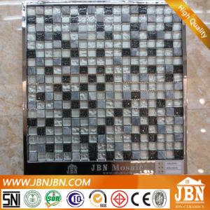 15x15мм холодной опрыскивания, черного и белого стеклянной мозаики с мраморным полом (M815045)