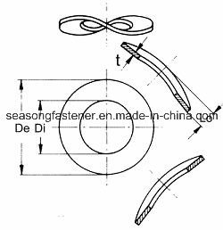La rondelle élastique ondulée (DIN137B)