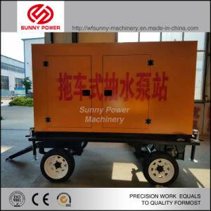 Diesel de 10 pulgadas de la bomba de agua para la minería/Proyecto Municipal con Four-Wheel tráiler
