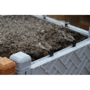 Het stapelbare Vierkant assembleert de Pot van de Bloem van de Planter van het Opgeheven Bed van de Tuin