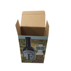Ilustración colorida caja de cartón cartón impreso