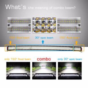 Nuevo 8d 12D 4 fila 22 32 42 50 52 52pulgadas comercio al por mayor de 24 voltios de 12V 4X4 alquiler de barra de luces LED curvada para offroad