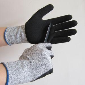 Cortar e TPR resistentes a impactos Anti Vibração Luvas de Segurança do Trabalho