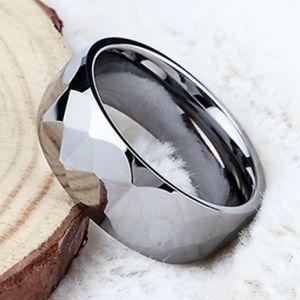 De hete Ringen van het Wolfram van de Juwelen van het Facet van de Verkoop In het groot Eenvoudige