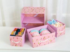 最新の製品OEMデザインは多くのカラーのおもちゃのための収納箱に着せる
