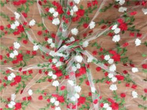 2018ばねの蝶刺繍デザイン刺繍の網のレースファブリック