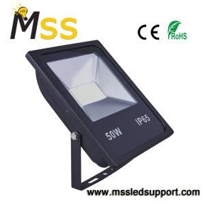 Proiettore di plastica dell'alluminio LED, lampada del proiettore di 50W IP65 LED con il sensore