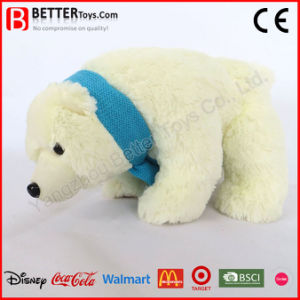 Giocattolo molle animale farcito realistico della peluche dell'orso polare di ASTM