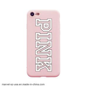 Color rosa suave cubierta de TPU Teléfono de silicio caso para el iPhone