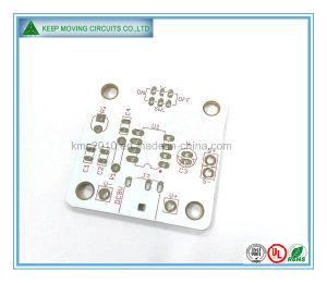 2 camadas de Circuito Impresso PCB com Branco Solermask+Silkscreen vermelho