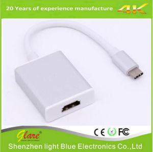 Diseño nuevo convenio de USB 3.1 tipo C para el cable adaptador HDMI
