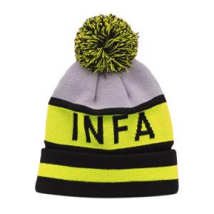 カスタム灰色のMerinoウールPOM POMの帽子の帽子の卸売