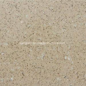 De color beige con conchas recompone la piedra de cuarzo para encimeras de cocina