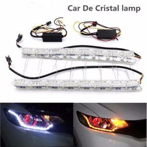 9515050d5 Branco  Amber Switchback fluindo Faixa de Cristal Flexível de LED DRL  sequencial