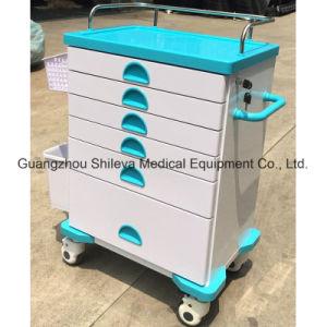 Emergency Laufkatze legt medizinische Laufkatze-Krankenhaus-Plastiklaufkatze beiseite