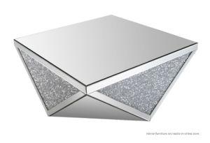 현대 호화스러운 불규칙한 정연한 삼각형 다이아몬드 미러 커피용 탁자